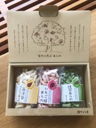 さくら製菓 自然の恵みあられ ル・レクチェ・いちご姫・抹茶 1,200円(税別)