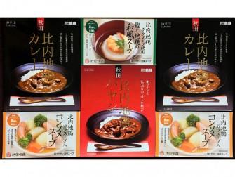 比内地鶏カレーとスープのセット 3,200円(税別)