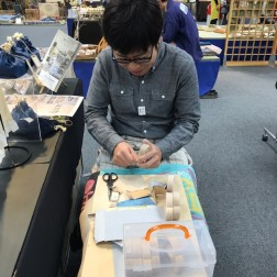 木のおもちゃの「ナカムラ工房さんは、お子さま、お孫さんの贈り物に人気でした。