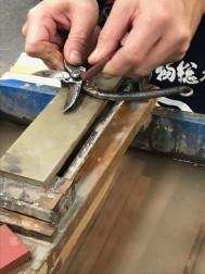 堺の業平刃物さん、刃物 研ぎの技術もぴかいちでした。