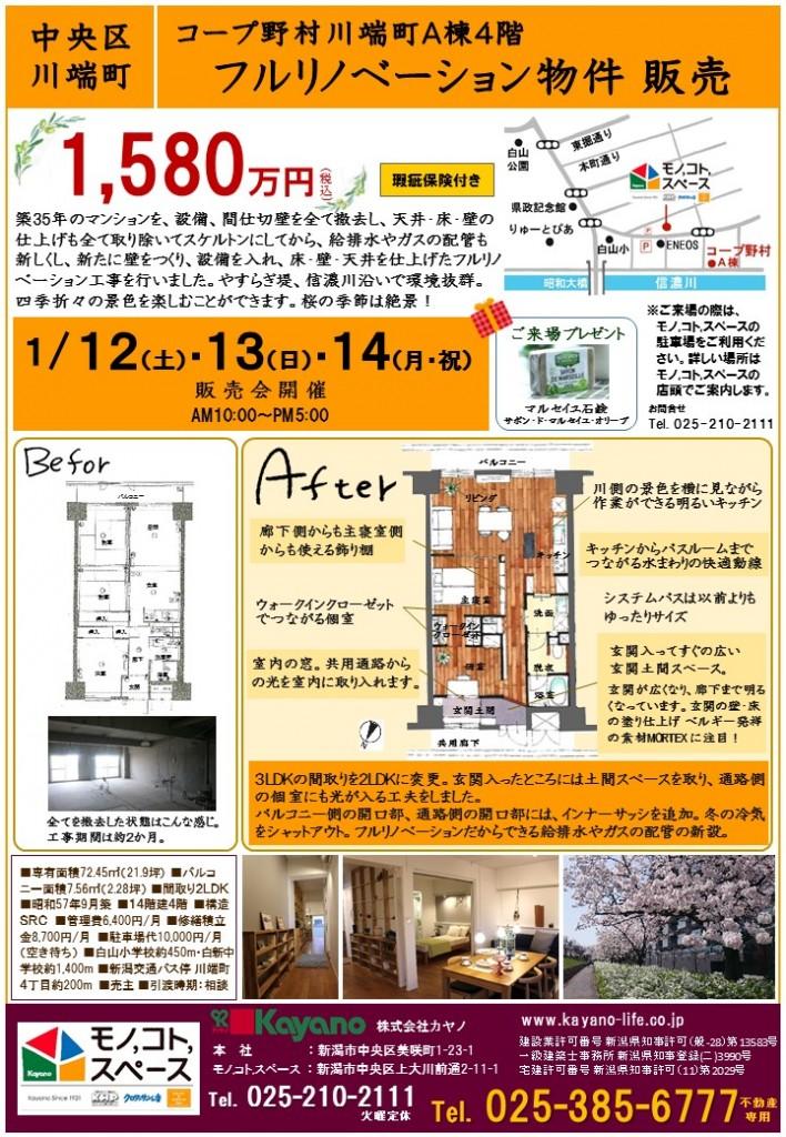 【印刷】折込A4チラシ (2)