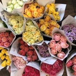 色とりどりのお花を!