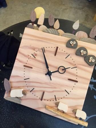 キコリの時計フェアでの作品。