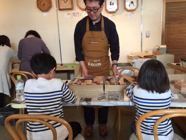 木片とボンドを使って作るので、お子さんでも安心して楽しんで頂けます。