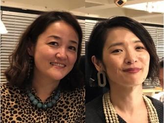 左が板倉みきこさん、右が郡司麻里子さん