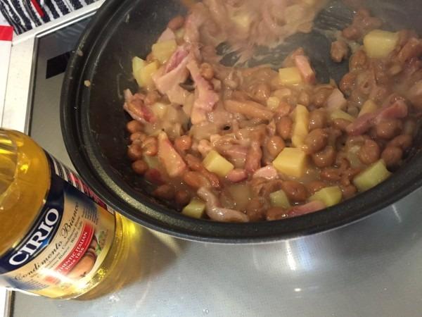 バルサミコビアンコの豆煮