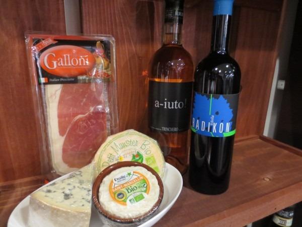 イタリアのプロシュートやオーガニックチーズもご用意しております。